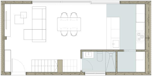 vivienda modular entre medianeras